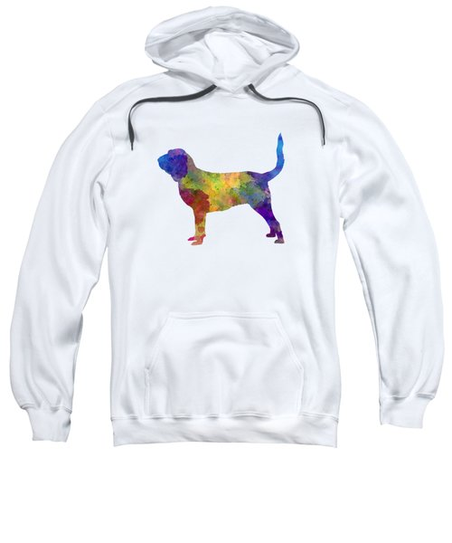 Bloodhound In Watercolor Sweatshirt