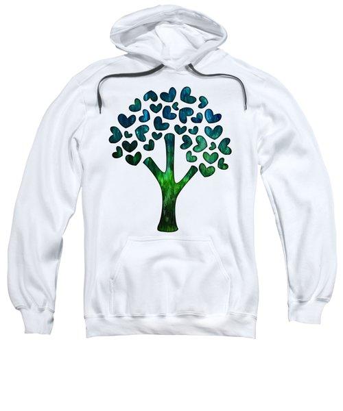 Blue Abstract Tree Of Love Sweatshirt
