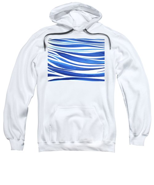Blue And White No. 1 Sweatshirt by Sandy Taylor