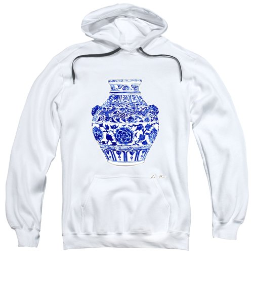 Blue And White Ginger Jar Chinoiserie 4 Sweatshirt