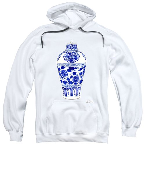 Blue And White Ginger Jar Chinoiserie Jar 1 Sweatshirt