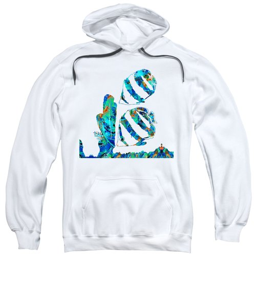 Blue Angels Fish Art By Sharon Cummings Sweatshirt by Sharon Cummings