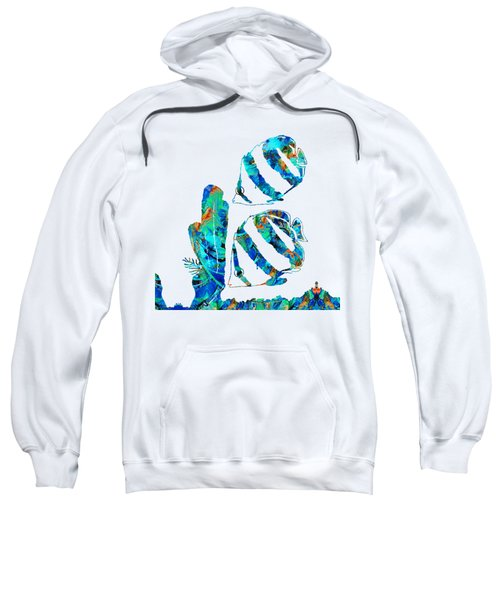 Blue Angels Fish Art By Sharon Cummings Sweatshirt