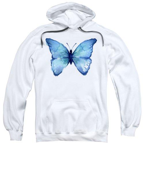 Blue Butterfly Watercolor Sweatshirt