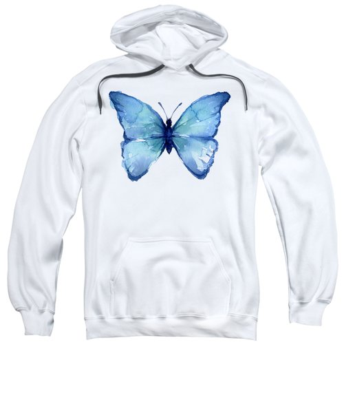 Blue Butterfly Watercolor Sweatshirt