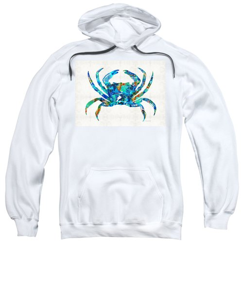 Blue Crab Art By Sharon Cummings Sweatshirt