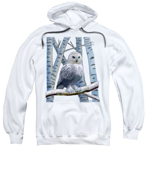 Blue-eyed Snow Owl Sweatshirt