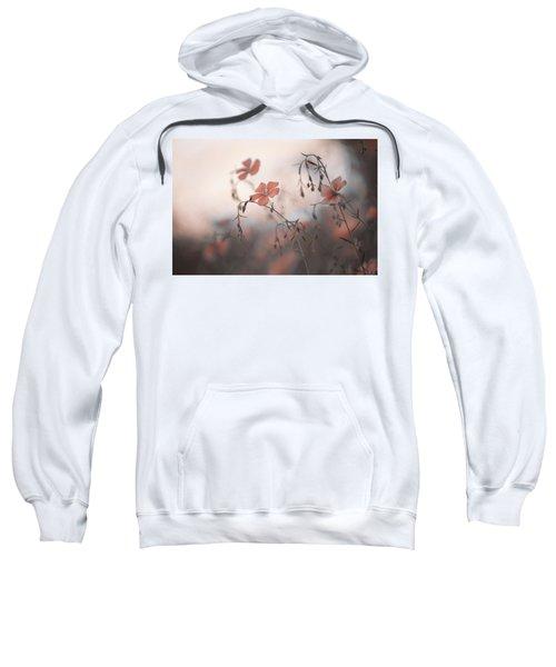 Blue Flax Flower. Aliens Sweatshirt