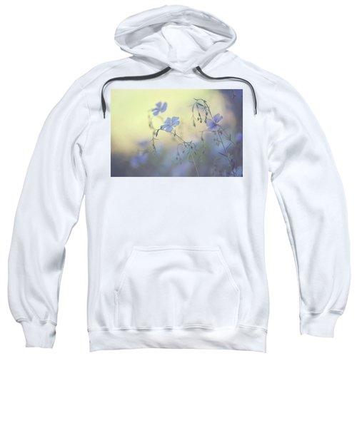 Blue Flex Flower. Nostalgic Sweatshirt