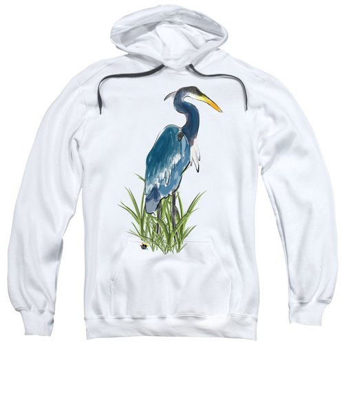 Blue Heron Sweatshirt by Devon LeBoutillier