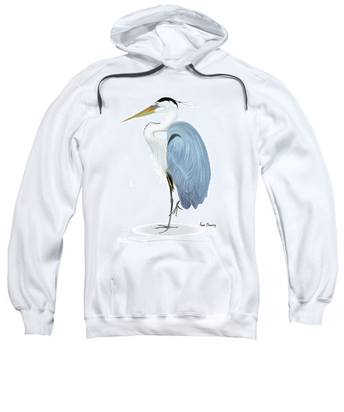 Blue Heron With No Background Sweatshirt
