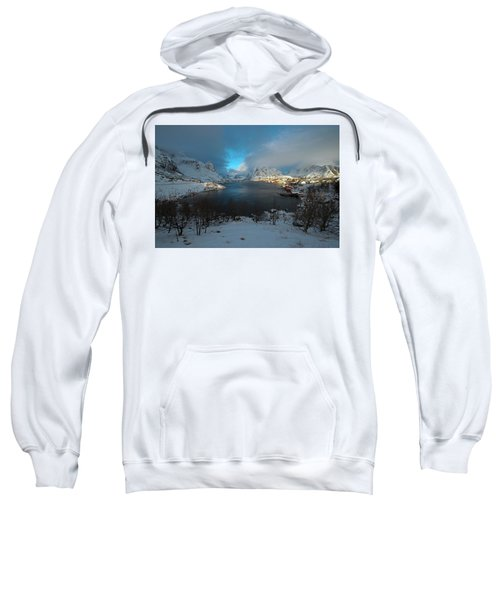 Blue Hour Over Reine Sweatshirt