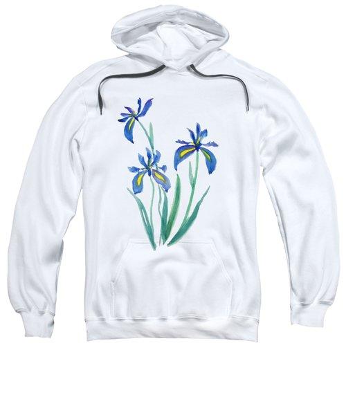 Blue Iris Sweatshirt by Color Color