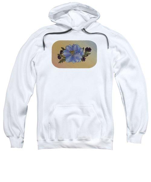 Blue Larkspur And Oregano Pressed Flower Arrangement Sweatshirt