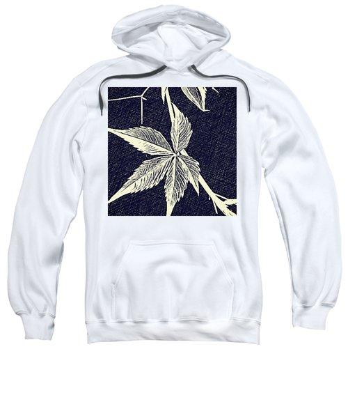 Blue Leaf Sweatshirt