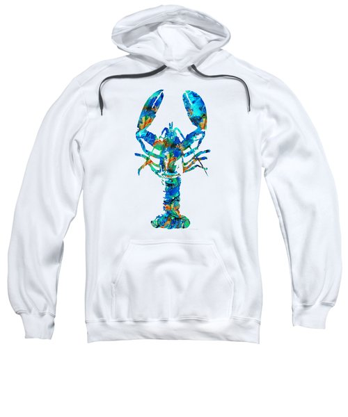 Blue Lobster Art By Sharon Cummings Sweatshirt by Sharon Cummings