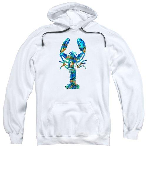 Blue Lobster Art By Sharon Cummings Sweatshirt