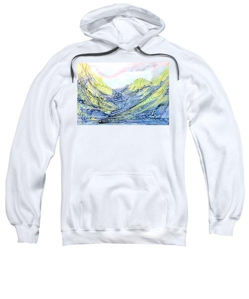 Blue Mountains Alcohol Inks  Sweatshirt