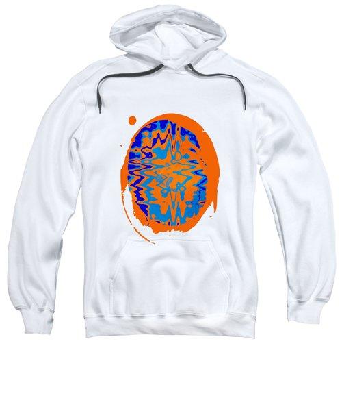 Blue Orange Abstract Art Sweatshirt
