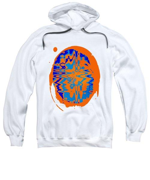 Blue Orange Abstract Art Sweatshirt