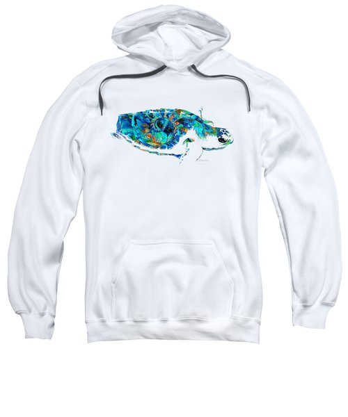 Blue Sea Turtle By Sharon Cummings  Sweatshirt