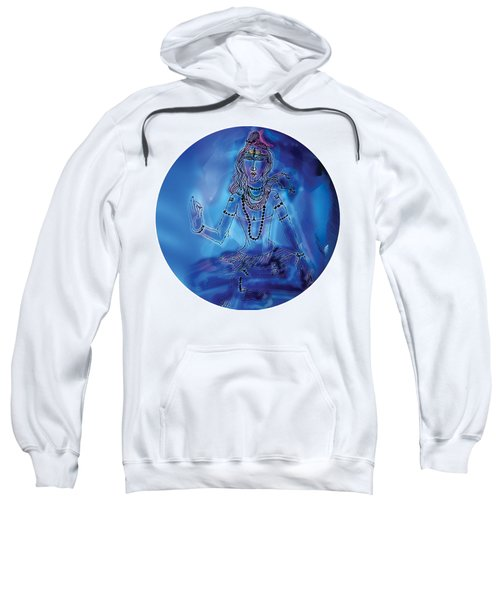 Sweatshirt featuring the painting Blue Shiva  by Guruji Aruneshvar Paris Art Curator Katrin Suter