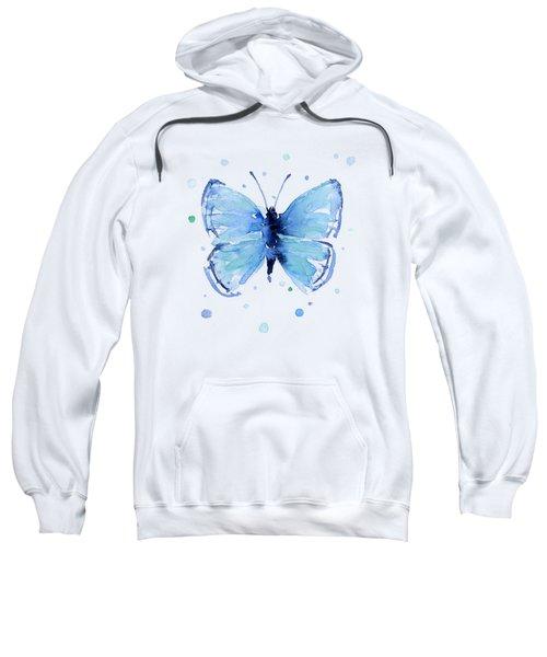 Blue Watercolor Butterfly Sweatshirt