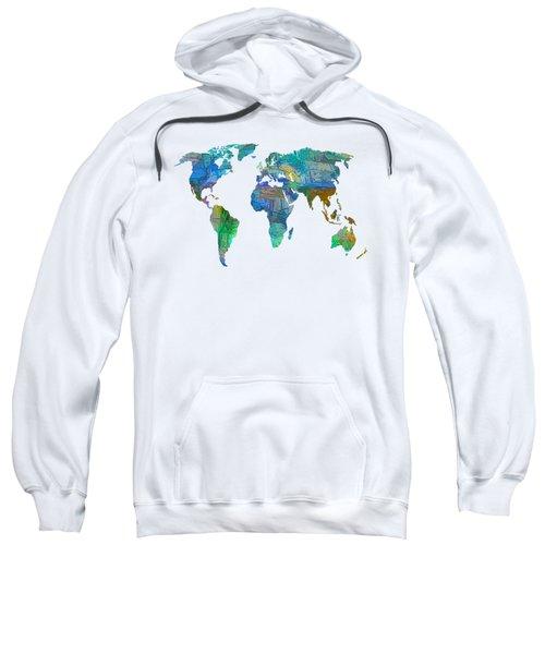 Blue World Transparent Map Sweatshirt