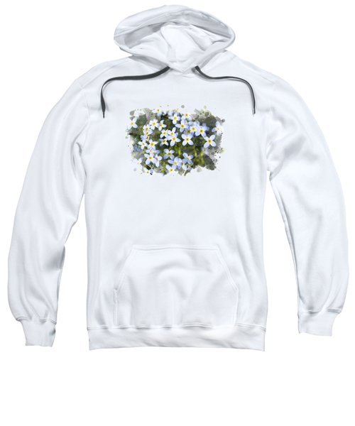 Bluet Flowers Watercolor Art Sweatshirt