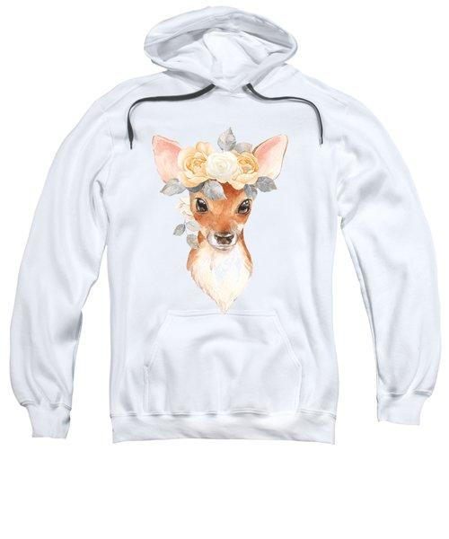 Blush Floral Deer Sweatshirt