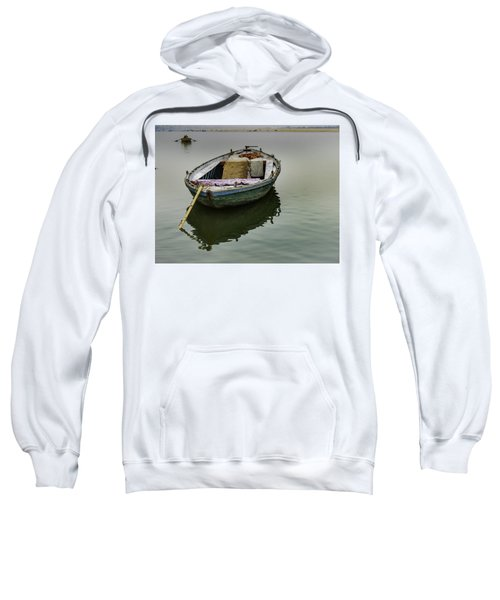 boat at Ganges Sweatshirt