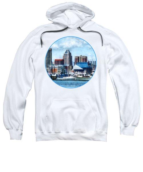 Boat - Baltimore Skyline And Harbor Sweatshirt