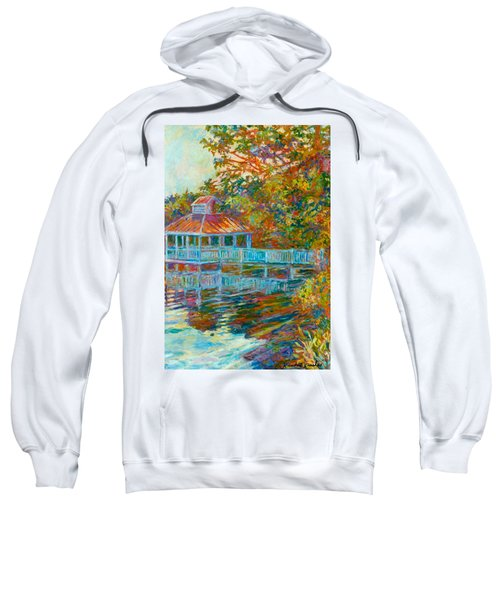 Boathouse At Mountain Lake Sweatshirt