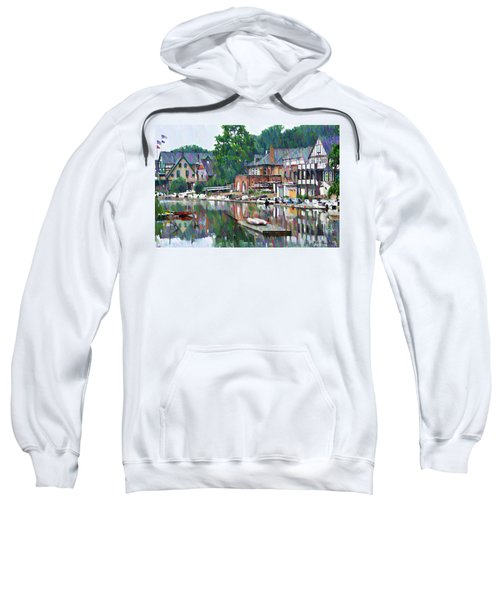 Boathouse Row In Philadelphia Sweatshirt