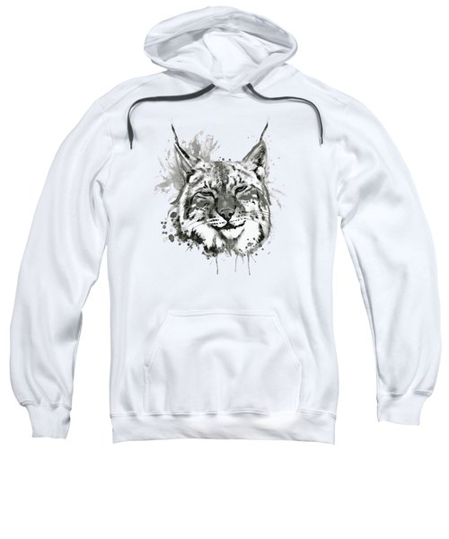 Bobcat Head Black And White Sweatshirt