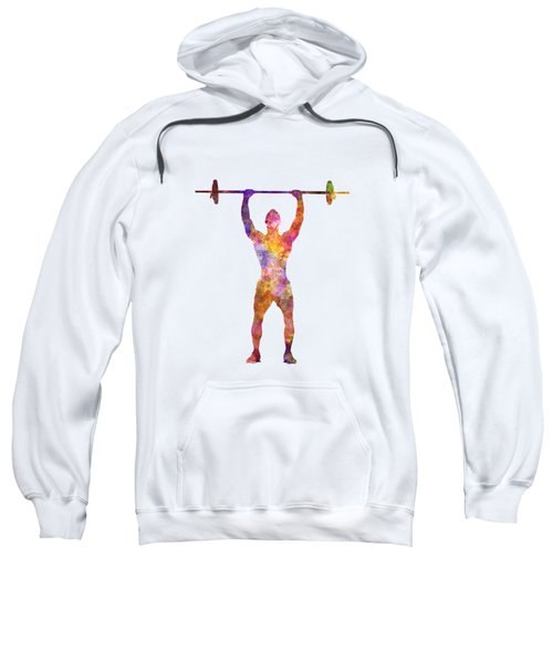 Body Buiding Man Isolated  Sweatshirt