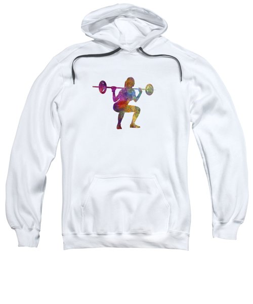 Body Buiding Woman Isolated Sweatshirt