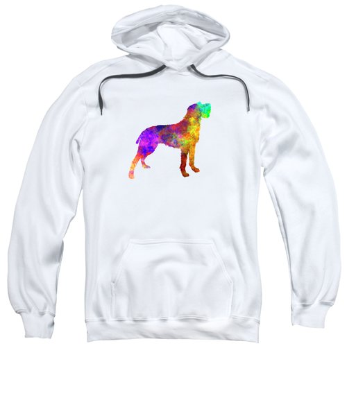 Bohemian Wirehaired Pointing Griffon In Watercolor Sweatshirt