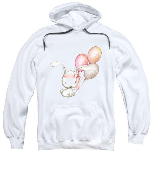Boho Bunny With Balloons Sweatshirt