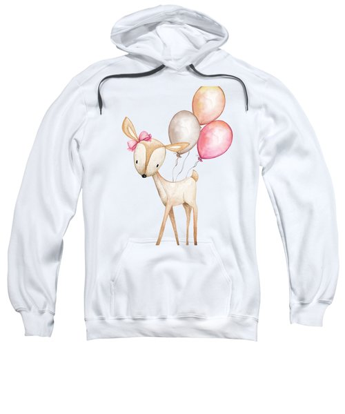 Boho Deer With Balloons Sweatshirt