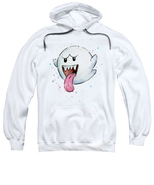 Boo Ghost Watercolor Sweatshirt