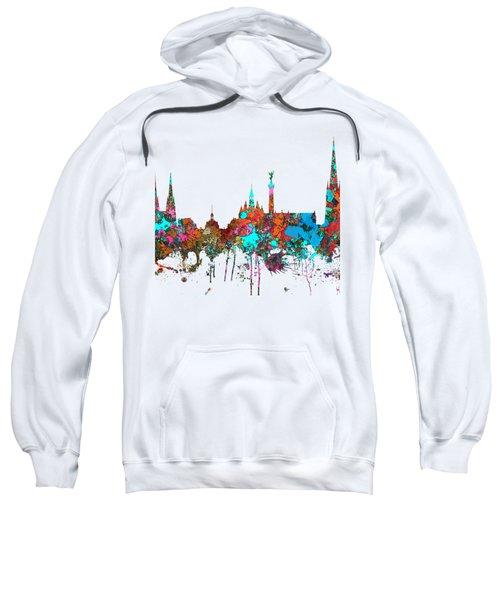 Bordeaux France  Skyline  Sweatshirt by Marlene Watson