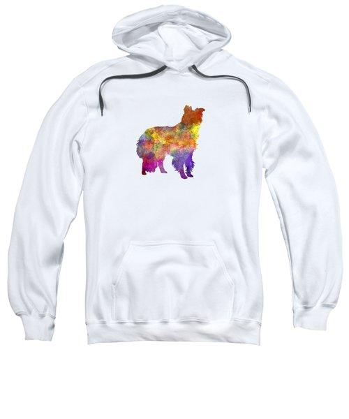 Border Collie In Watercolor Sweatshirt