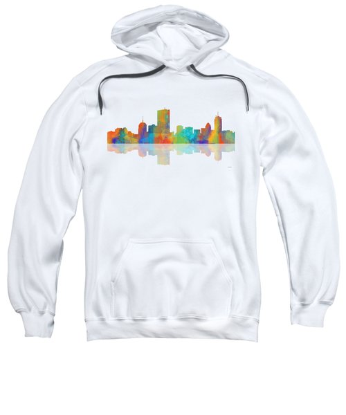Boston Ma. Skyline Sweatshirt by Marlene Watson