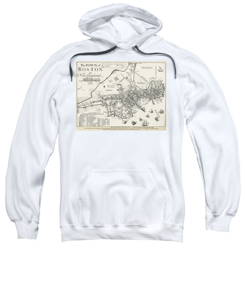Boston Map, 1722 Sweatshirt