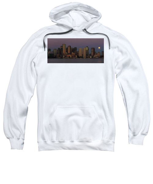 Boston Moonset And Sunrise Sweatshirt