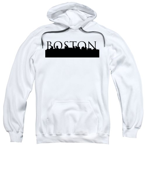 Boston Skyline Outline With Logo Sweatshirt by Joann Vitali