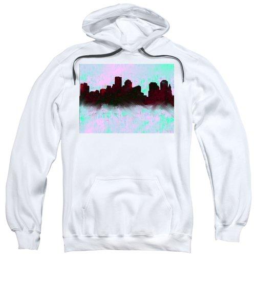 Boston Skyline Sky Blue  Sweatshirt