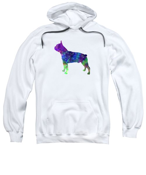 Boston Terrier 02 In Watercolor Sweatshirt by Pablo Romero