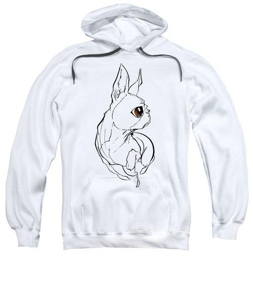 Boston Terrier Gesture Sketch Sweatshirt